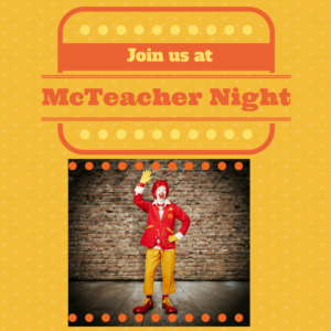 Join Us At McTeacher Night