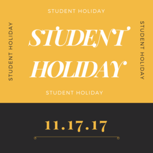 Student Holiday  11-17-17