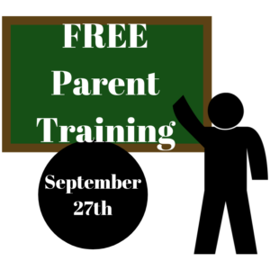 Free Parent Training September 27th